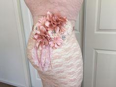 Hermosa Vintage Blush maternidad faja novia marco bebé ducha