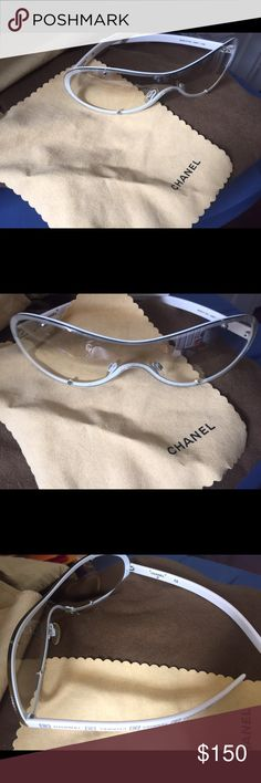 bbab73920d03 Shop Women s CHANEL White size OS Sunglasses at a discounted price at  Poshmark. Description  White authentic Chanel sunglasses with original case  and cloth.