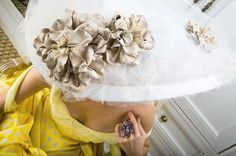 What an Easter hat! The 'Anna Pavlova,' by milliner extraordinaire, Anya Caliendo.
