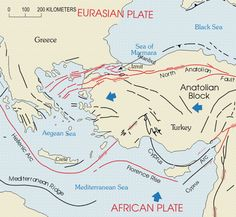 Faults and Plates of Turkey
