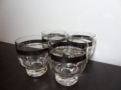 Vintage Pedestal Low Ball Cocktail Glasses by DaysLongGoneSalvage