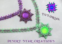 Beadweaving Pattern Lunasoft Star Super Duo by DesertStarCreations, $8.00 Pretty idea