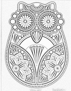 Owl Abstract Doodle Zentangle ZenDoodle Paisley Coloring pages colouring adult… Dover Coloring Pages, Printable Coloring Pages, Adult Coloring Pages, Coloring Sheets, Coloring Books, Doodle Coloring, Mandala Coloring, Owl Crafts, Mosaic Patterns