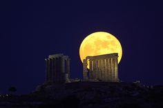 Solstice Full Moon Over Sounion - Greece (2010) by Anthony Ayiomamitis on Flickr