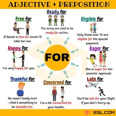 Common Adjective Collocations with the Preposition FOR