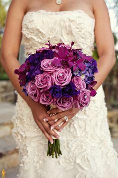 Purple, Lavender Bridal Bouquet by Tustinflorist.com