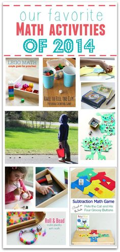 Best Math activities for kids - great resource for hands on math.