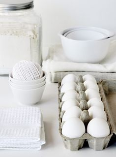 source: mo + mo LIVING  ~ greatresourcefor simple living :: whites study All White, Snow White, Pure White, White Light, White Cottage, Ovo, Bowls, Protected Species, White Food