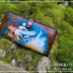 wallet with angels   handmade:  facebook: BOBKOV  facebook: Key4ever Leather Work