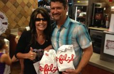 Sarah Palin Dines at Chick-fil-A, Subtly Reminds Us She Hates Gays