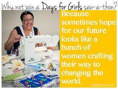 Join a Days for Girls sew-a-thon and craft your way to changing the world. Operation Christmas Child Boxes, Days For Girls, Period Pads, Mission Projects, Samaritan's Purse, Helping Others, Helping Hands, Cloth Pads, Service Projects
