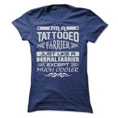 TATTOOED FARRIER - AMAZING T SHIRTS - #tshirt men #brown sweater. ORDER NOW => https://www.sunfrog.com/LifeStyle/TATTOOED-FARRIER--AMAZING-T-SHIRTS-Ladies.html?68278