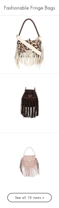"""Fashionable Fringe Bags"" by modalist ❤ liked on Polyvore featuring fringe, bags, handbags, print handbags, color block purses, fringe handbags, leopard handbag, leopard purse, shoulder bags and shoulder strap bags"