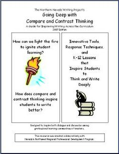 Ideas on a comparison/ contrast paper in English class?