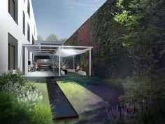 Garden in Łazarski Hospital, Poznań - design by Archimed Architecture, rendering