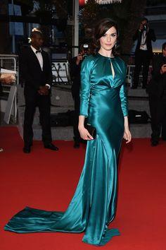 Rachel Weisz, en robe Prada et bijoux Chaumet au Festival de Cannes, le 20 mai 2015