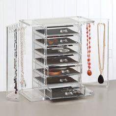 Joyero Allure Wonderful. Jewelery organized in transparent boxes. Easy to find