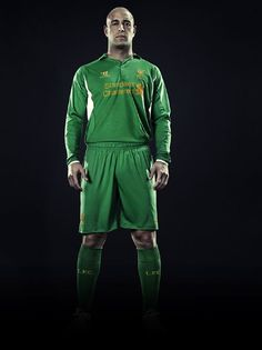 Pepe Reina models the new Liverpool FC 2012-13 kit.    Click on the link below to pre-order the kit today from the Official LFC Online Store and receive a free LFC t-shirt while stocks last  http://store.liverpoolfc.tv/