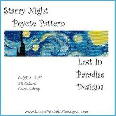 Starry Night Peyote Bracelet Pattern