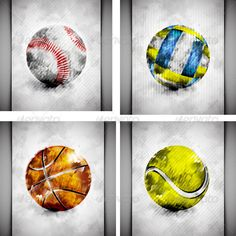 Sports Ball Watercolor