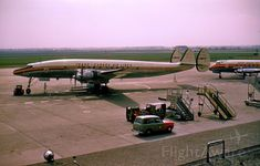 A Trans-Canada Air Lines Lockheed 1049 Super Constellation in April, 1960.