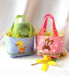 Mini Easter Basket - 5x7 | What's New | Machine Embroidery Designs | SWAKembroidery.com Oma's Place