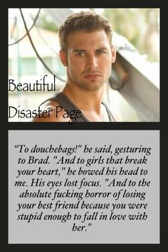 Travis ~ Beautiful Disaster by Jamie McGuire one of my favorite parts Jamie Mcguire, I Love Books, Great Books, Books To Read, Losing Your Best Friend, Good Romance Books, Favorite Book Quotes, Beautiful Series, Beautiful Disaster