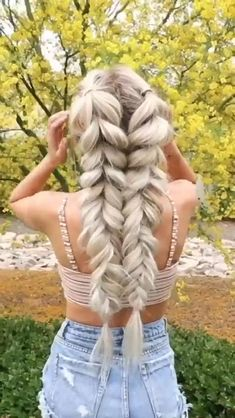 Pretty Braided Hairstyles, Easy Hairstyles For Long Hair, Braids For Long Hair, Braided Ponytail, Updo Hairstyle, Everyday Hairstyles, Wedding Hairstyles, Summer Hairstyles, Volleyball Hairstyles