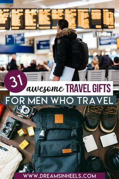 Looking for the best travel gifts for men? Here are my top picks for unique gift ideas for him! Useful travel gifts for dad, husband, boyfriend or anyone that you would like to surprise | best gifts for men who travel for work | gifts for men who have everything | gifts for men who travel a lot | fathers day gifts ideas | gifts for men who love to travel | men who travel gifts | gift for male traveler | male traveler gifts | gifts for dads who travel | fathers day gifts for dads who travel | Packing Tips For Travel, Travel Advice, Packing Hacks, Travel Guides, Best Travel Gifts, Work Gifts, Travel Reviews, Travel Gadgets, His Travel