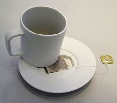Jonas Trampedach has an idea for disposing of the used tea bag....although it could also be used for a cheeky spare