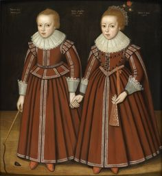1617 Unknown artist of the Anglo Dutch School, 1622 Portrait of Two children inscribed Natus. 22 Maij 1617 Girl with a fan, boy with a whip.