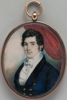 Portrait of Stephen Thorn, 1818. by  George Augustus Baker Sr.  (1760–after 1830)