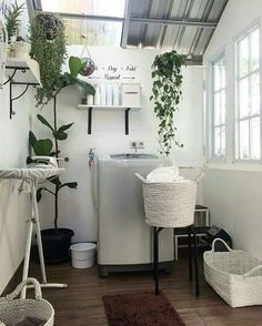 153 laundry design ideas with drying room that you must try page 19 Laundry Room Decor, House Decoration Kitchen, Outdoor Laundry Rooms, Home Room Design, Minimalist Room, Drying Room, House Interior, Room Design, Room Interior