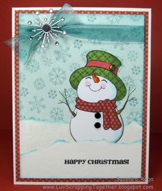 Luv Scrapping Together: Happy Christmas with Peachy Keen Stamps!