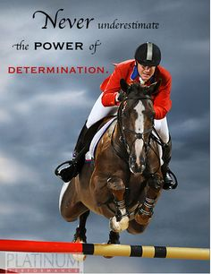Never underestimate the power of determination. www.Nicker.com