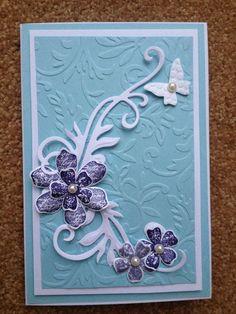 Birthday Card - Spellbinders Shapeabilities Floral Flourish