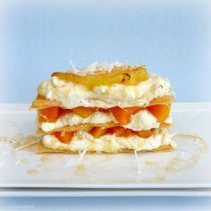 Caramelized Pineapple and MangoNapoleons #food #dessert #fruit #recipe