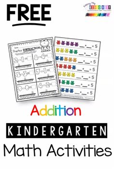 FREE kindergarten math lessons and activities - worksheets and math centers