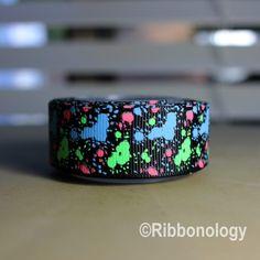 Ribbonology+Glow+In+The+Dark+Graffiti+Splatter+Paint+Ribbon