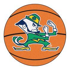"""Notre Dame Fighting Irish Ncaa """"basketball"""" Round Floor Mat (29"""") Fighting Irish Logo"""