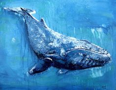 paintings of whales | Humpback Whale Painting by Ben Walker - Humpback Whale Fine Art Prints ...