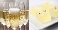 Jello shots med champagne och guld
