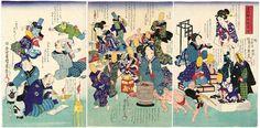 歌川国麿: Kanai tanoshimu kinsen... - ボストン美術館