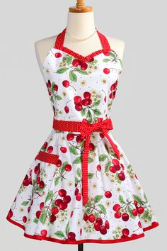 cherry 50's apron