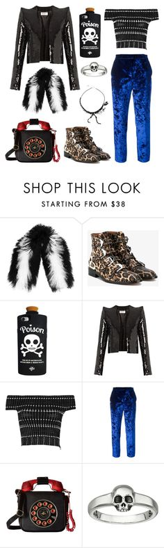"""""""Rebellion with Texture"""" by sara-lee-92 ❤ liked on Polyvore featuring Charlotte Simone, Givenchy, Yves Saint Laurent, Alexander McQueen, MSGM, Betsey Johnson, King Baby Studio and Tatty Devine"""