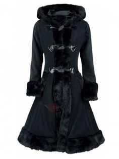 Clocolor Women Black Hooded Winter Wool Coat Full Sleeve Autumn Winter Warm Female Long Cloaks Outwear Back Lace Up Wool Coat Gender: WomenOuterwear Type: Wool & BlendsSleeve Length(cm): FullModel Number: V-NeckStyle: VintageClosure Type Gothic Coat, Gothic Lolita, Lolita Style, Winter Coats Women, Coats For Women, Clothes For Women, Elegant Woman, Vintage Coat, Vintage Gothic