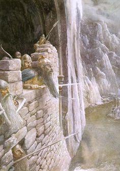 Tolkien By John Howe & Alan Lee - Imágenes Alan Lee, Jrr Tolkien, Tolkien Books, Hobbit Art, O Hobbit, Gandalf, Legolas, Aragorn, Lotr