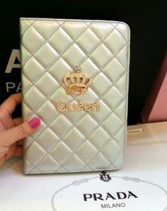 Luxury case with queen text and rhinestones for Ipad Air, Rhinestones, Queen, Luxury, Mini, Cover, Gems