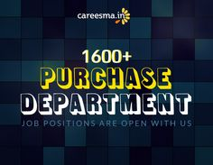 1600+ Purchase Department Jobs waiting for right candidates.. Link - http://www.careesma.in/jobs?q=purchase+jobs