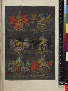 Miniature of the achievements of arms of the first knights of the Order of the Golden Fleece.